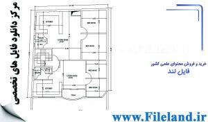 پلان مسکونی 22.70*12.40– کد پلان: 42