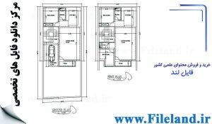 پلان مسکونی 18.60 *8.00 – کد پلان: 49