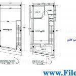 پلان مسکونی 11.95 *5.70 – کد پلان: 57