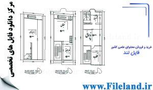 پلان مسکونی 13.40*5.95– کد پلان: 32