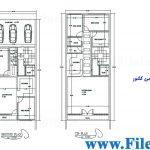 پلان مسکونی 26.94 *8.00– کد پلان: 59