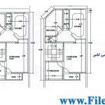 پلان مسکونی 17.60*7.50–کد پلان: 64