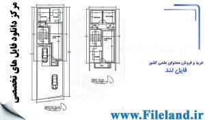 پلان مسکونی 12.24*6.12– کد پلان: 65