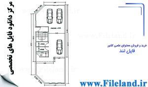 پلان مسکونی 17.75*6.87 – کد پلان: 40