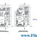 پلان مسکونی 9.46*20.43– کد پلان: 104
