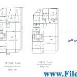 پلان مسکونی 24.03*8.60– کد پلان: 105
