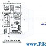 پلان مسکونی 22.00*8.00– کد پلان: 108