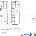 پلان مسکونی 21.70*6.00– کد پلان: 111