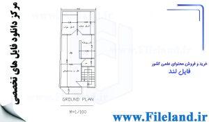 پلان مسکونی 22.60 *6.10 – کد پلان: 114