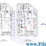 پلان مسکونی 28.00*10.00– کد پلان: 115