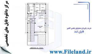 پلان مسکونی 27.5*10.00– کد پلان: 116
