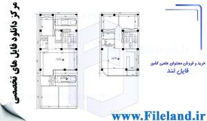 پلان مسکونی 20.00*8.00– کد پلان: 117