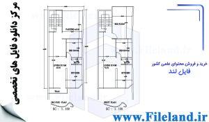 پلان مسکونی 20.70*6.60 – کد پلان: 118
