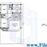 پلان مسکونی 16.05*8.50– کد پلان: 122