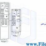 پلان مسکونی 25.79*6.06– کد پلان:183