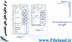 پلان مسکونی 19.00*8.80– کد پلان:184