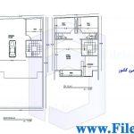 پلان مسکونی 18.10*9.00– کد پلان:186