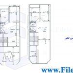 پلان مسکونی 21.70*6.00– کد پلان:188