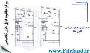 پلان مسکونی 19.85*10.47– کد پلان:190