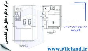 پلان مسکونی 14.85*8.00– کد پلان:191