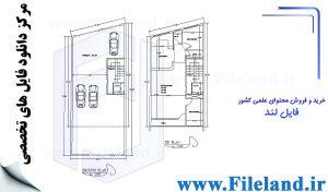 پلان مسکونی 19.80*8.30– کد پلان:192