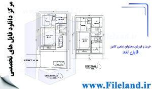 پلان مسکونی 17.02*8.50– کد پلان:194