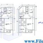 پلان مسکونی 17.60*7.50– کد پلان:195