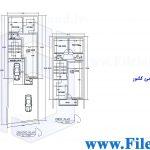 پلان مسکونی 21.20*6.12– کد پلان:196
