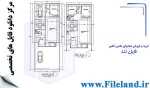 پلان مسکونی 20.65*7.95– کد پلان:197