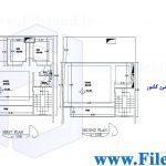 پلان مسکونی 15.50*10.00– کد پلان:199