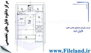 پلان مسکونی 35.42*12.00– کد پلان:200